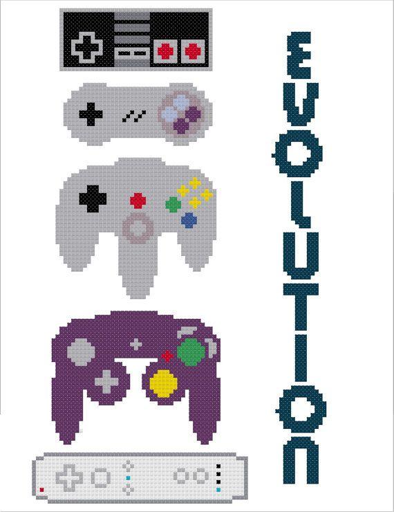 Controller Evolution Cross Stitch Pattern (PDF)