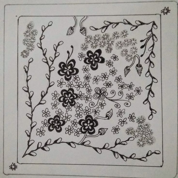 Learning to tangle with Zentangle®: Joey's weekly tangle challenge#55