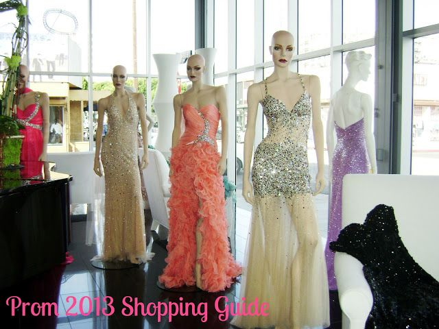 Prom dress guide pins