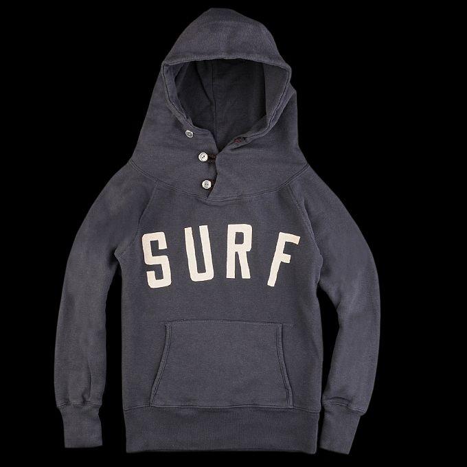 UNIONMADE - Kapital - Fleece Lined Surf Hooded Sweatshirt in Navy