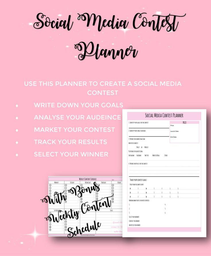 Social Media Contest Planner