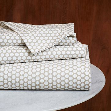 Dot Sheet Set - Natural Flax #westelm