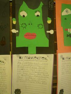 Third Grade Love: ~~Frankenstein Writing & Freebies~~