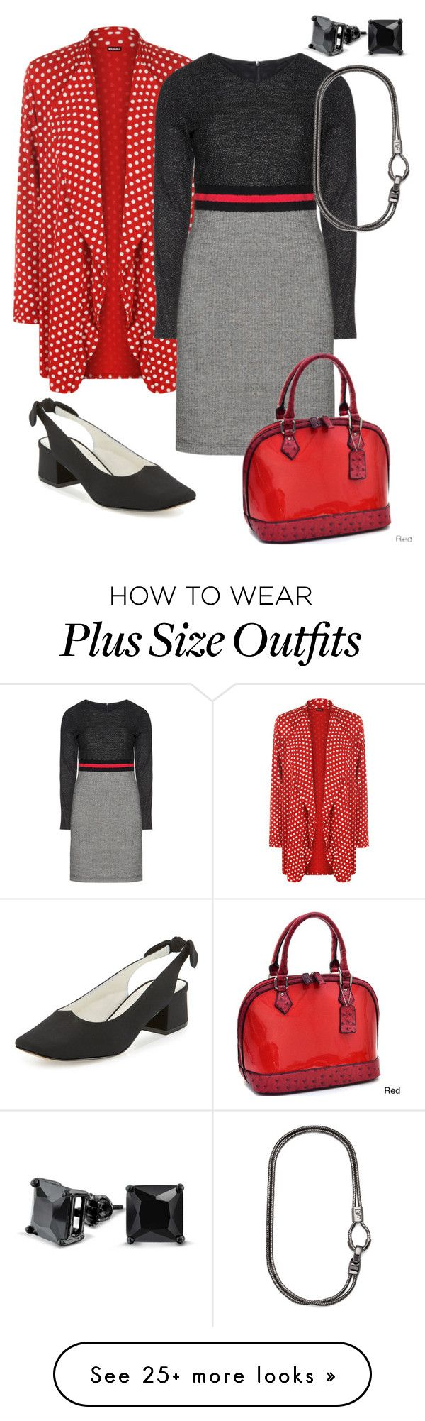 """""""Office Update, Plus Size"""" by dundiddit on Polyvore featuring Bling Jewelry, WearAll, Evelin Brandt, Bettye Muller, Dasein, Diane Von Furstenberg and frugal"""