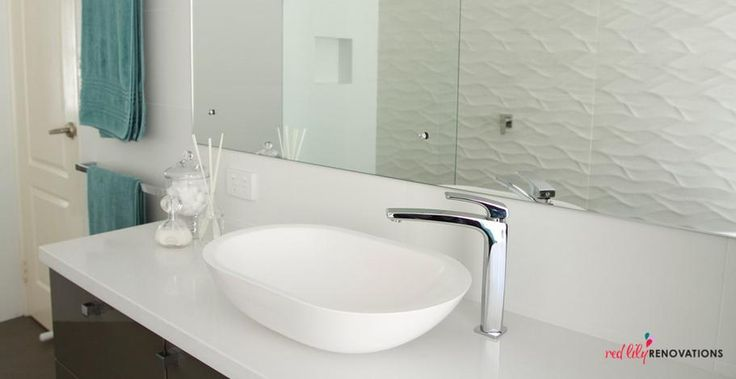 Marblo Elipse counter top basin, bathroom by Red Lily Renovations