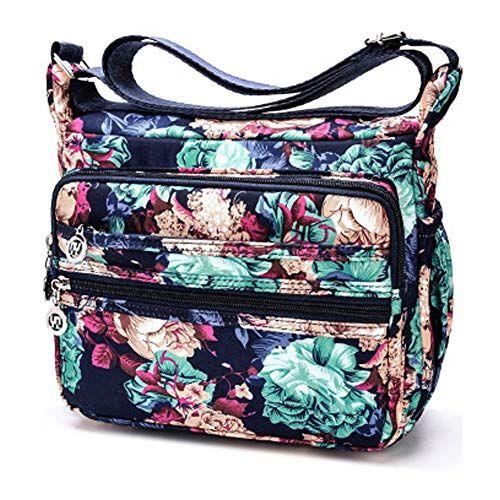 f9e706ba85 AlleGt Sacs à Bandoulière Imperméables Sac Messenger pour Femme Crossbody  Bag Nylon Sac de Voyage Sac