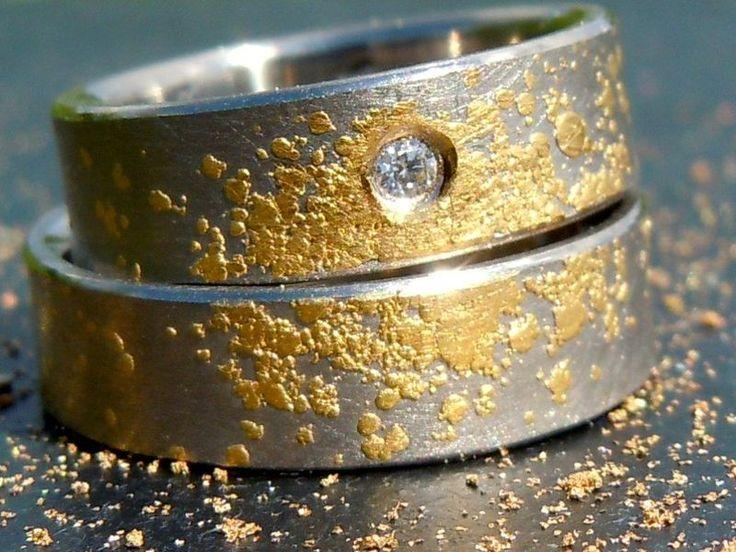 Eheringe-Trauringe *STARDUST*Weißgold,Gold von MARLUNA - Individuelle Trauringe und Schmuck auf DaWanda.com