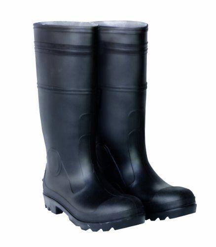 CLC Rain Wear R23009 Over The Sock Black PVC Men's Rain Boot, Size 9 - http://authenticboots.com/clc-rain-wear-r23009-over-the-sock-black-pvc-mens-rain-boot-size-9/