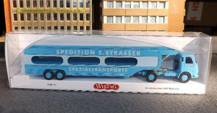 "0580 49 Wiking Autotransporter ""MB Pullman ""Spedition E. Strasser"" WIE NEU"