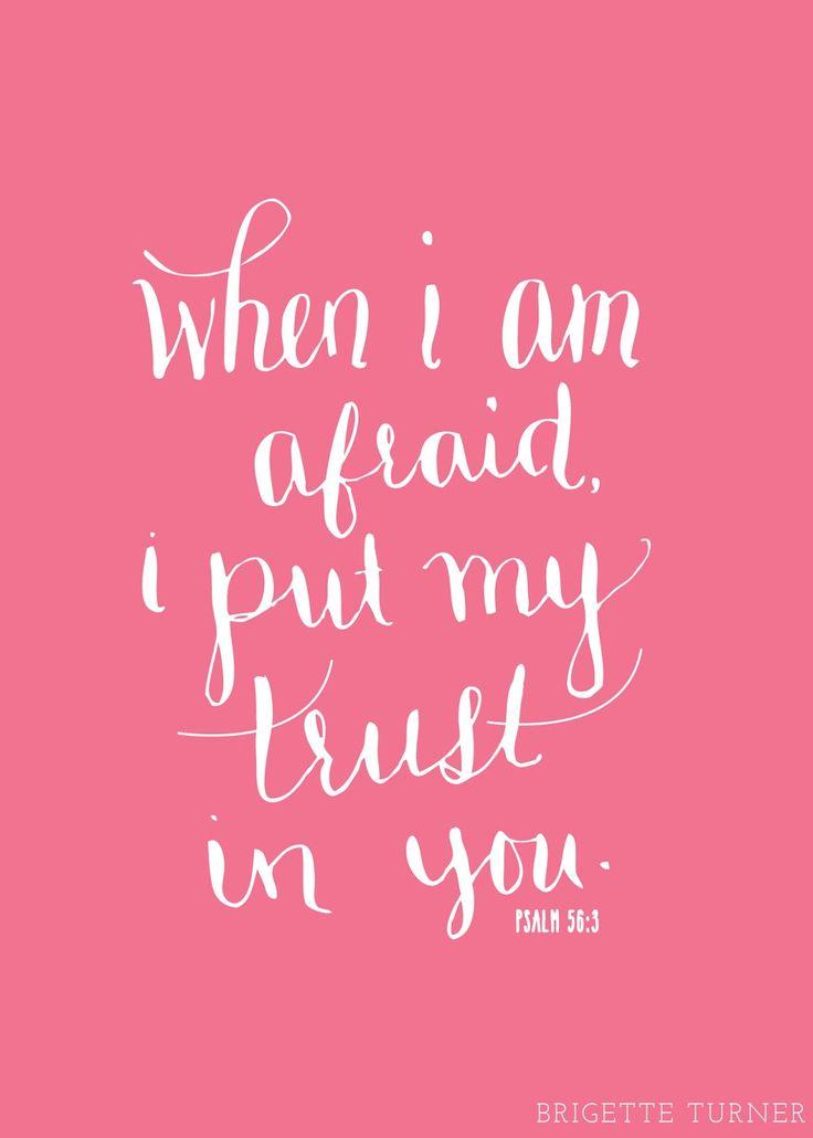 When I Am Afraid I Put My Trust In You Psalm 56 3