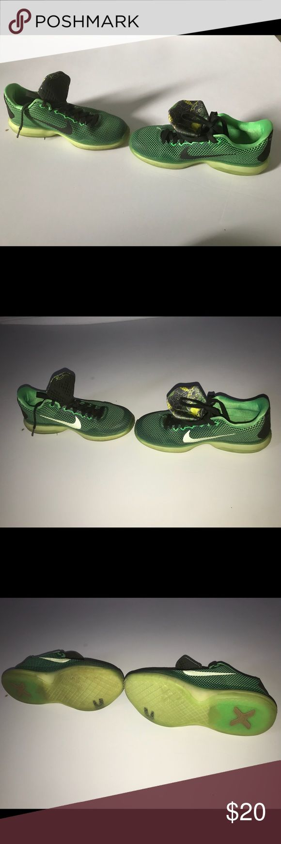 Nike Kobe lime green and black Nike Kobe sneakers lime green black with hints of yellow Nike Shoes Sneakers