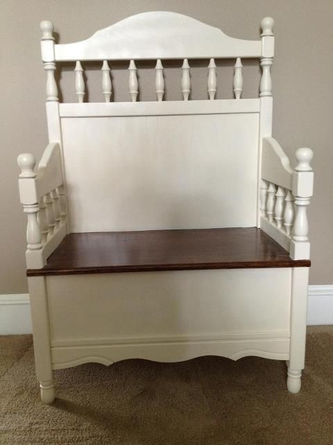 My crib bench ~ complete with original teething marks!