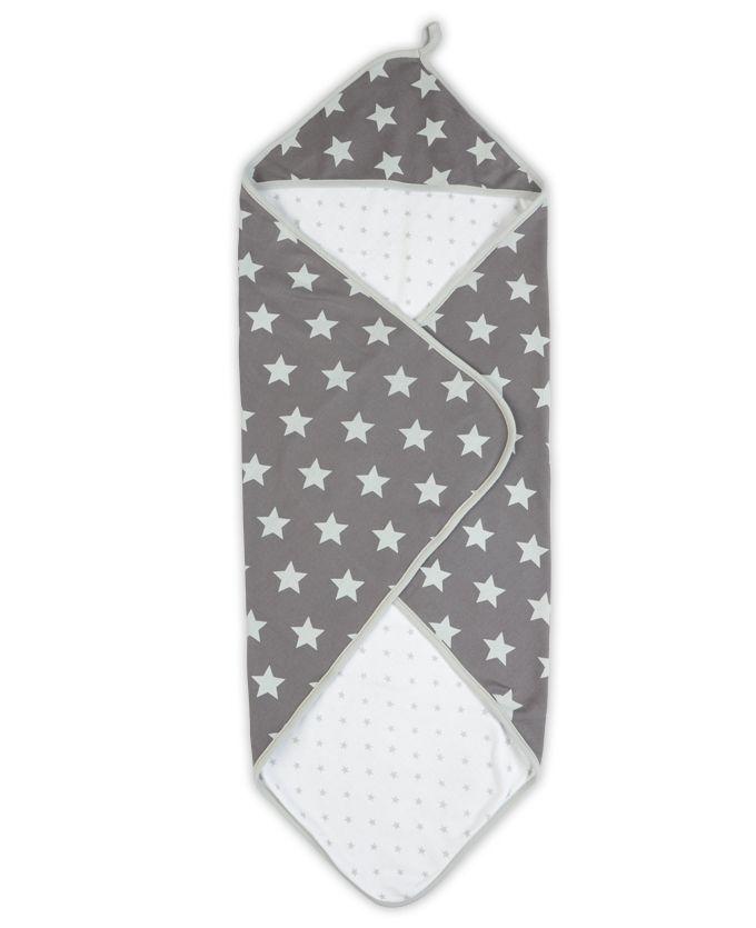 Prénatal badcape grijze sterren0