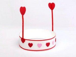 Manualidad de San Valentín Foto: Kids bedding blog