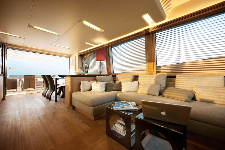 #MCY76 - Saloon. She is a #yacht with a #unique personality thanks to its development of #classic elements and the way it shuns ostentation to deliver #impressive functionality on board. #MonteCarloYachts #MonteCarloYachts76 #Yachts #luxuryyacht #lifestyle #innovation #SimpsonMarine
