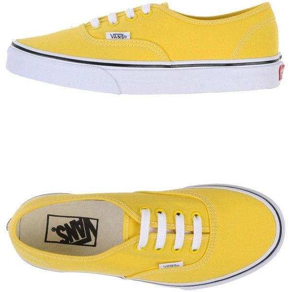 Vans Sneakers (135 CAD) ❤ liked on Polyvore featuring shoes, sneakers, yellow, round cap, yellow shoes, vans shoes, vans trainers and round toe sneakers