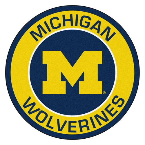 "Michigan Wolverines 27"""" Roundel Area Rug Floor Mat"