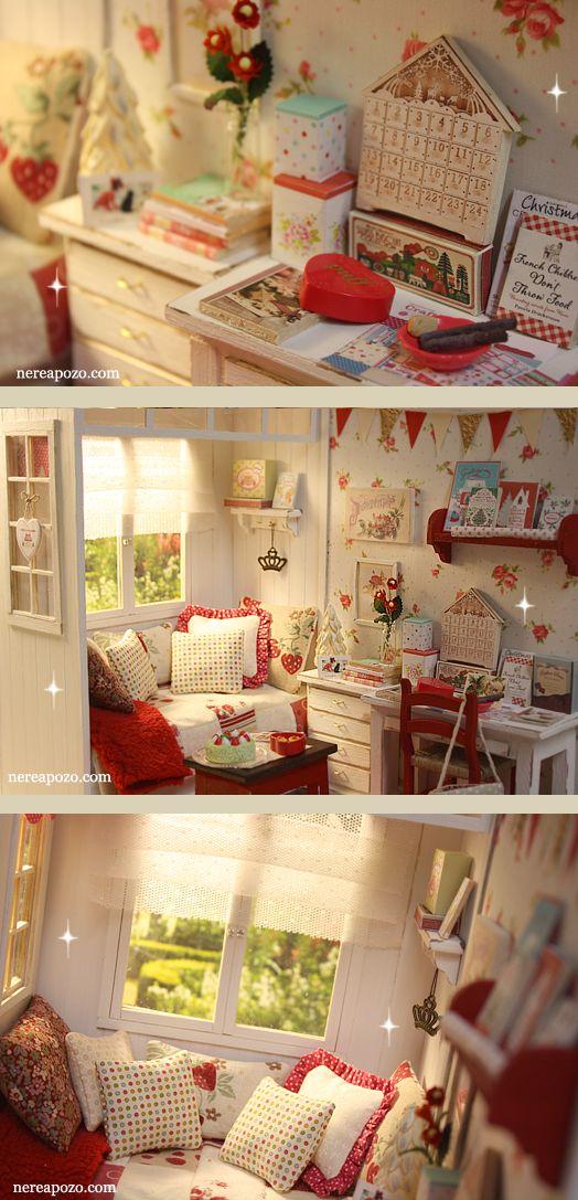"Nerea Pozo Art: New Diorama "" WINTER WINDOW BEDROOM """