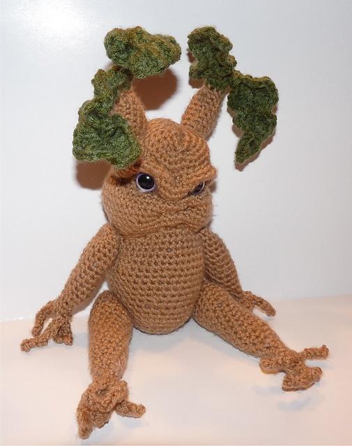 Amigurumi Mandrake : Rooti the Mandrake Seedling pattern by Britni Husband ...