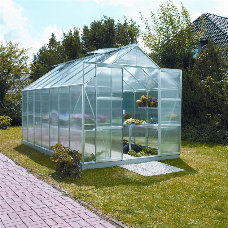 Zahradní skleník LanitPlast Uranus 11500 + základna, automatický otvírač okna, okapový KIT, tyče na zeleninu a DOPRAVA ZDARMA