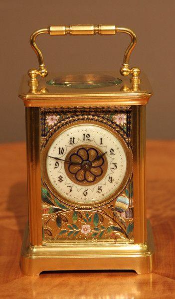 Carro del reloj, florally gusto, circa 1900 Francia