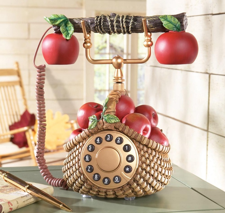 85 best antique telephones images on pinterest phone for Red apple decorations for the kitchen