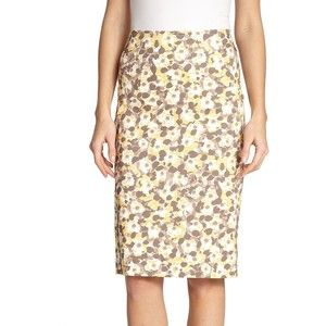 Peserico Floral-Print Pencil Skirt