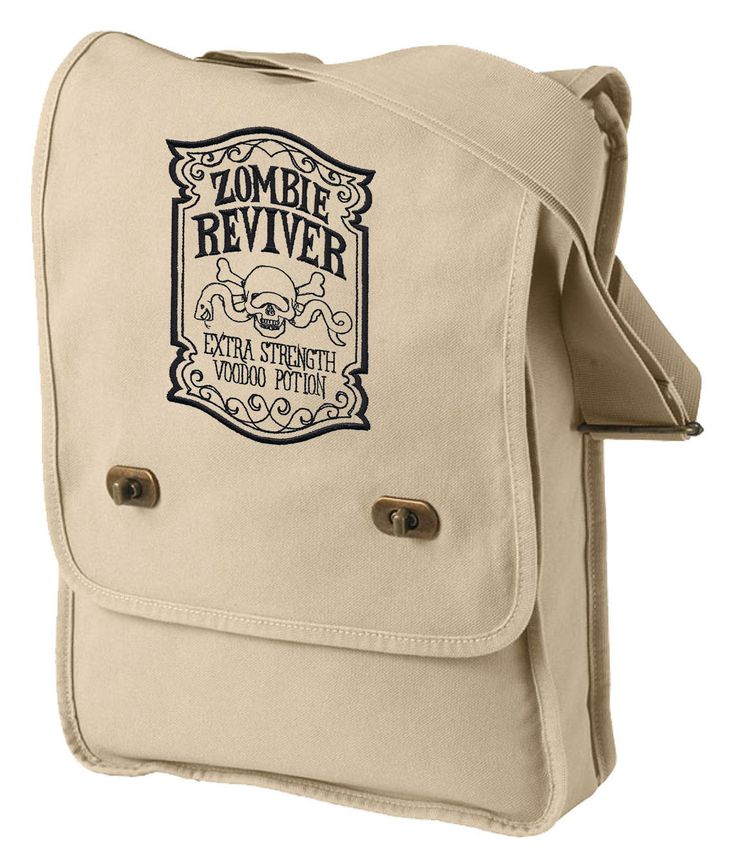 ApotheScary - Zombie Reviver Embroidered Canvas Field Bag