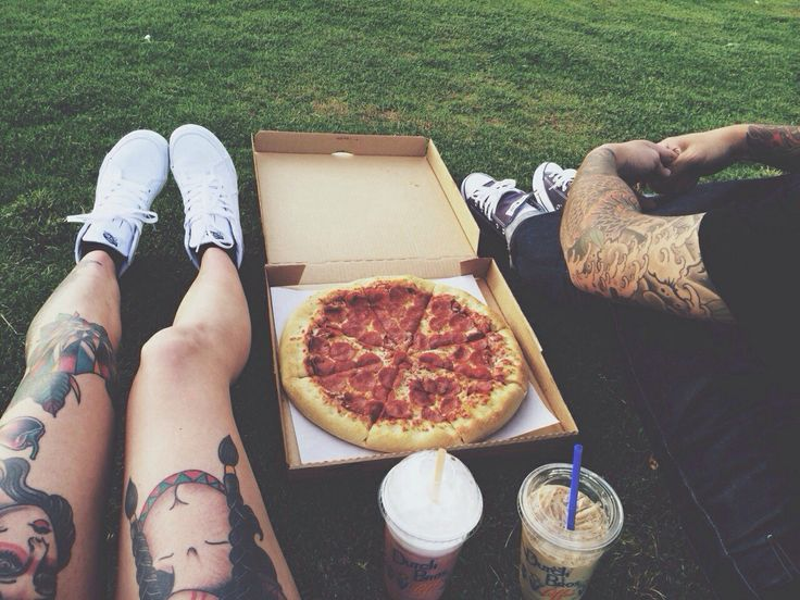 Just pizza, just friends
