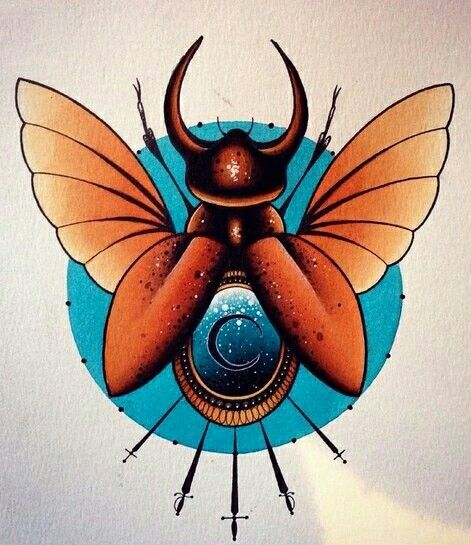 #traditional #tattoo #beetle