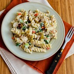 Tuna Pasta Salad With Lemon, Green Olives, And Cucumbers Recipe ...