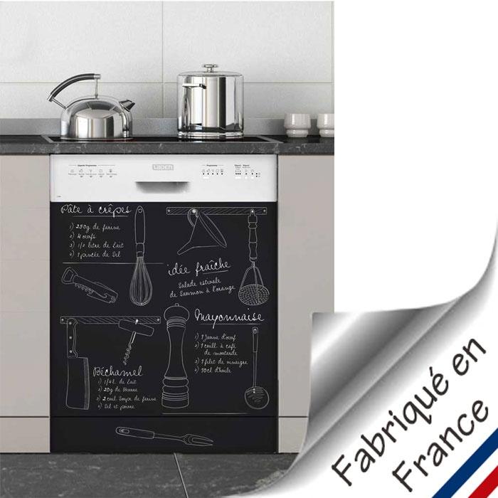 Sticker lave vaisselle recettes je cuisine for Stickers pour meuble cuisine