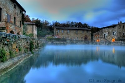 The Healing Waters of Bagno Vignone near Montalcino