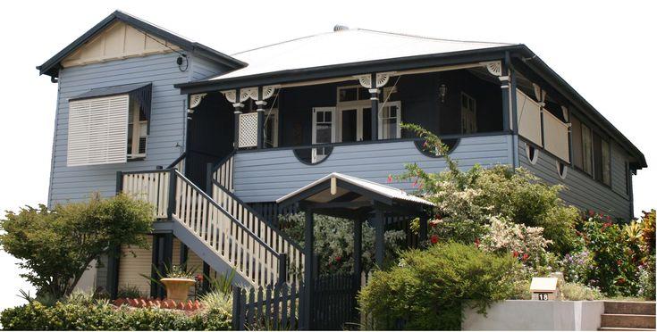 26 best images about balustrade on pinterest brick house for Queenslander exterior colour schemes
