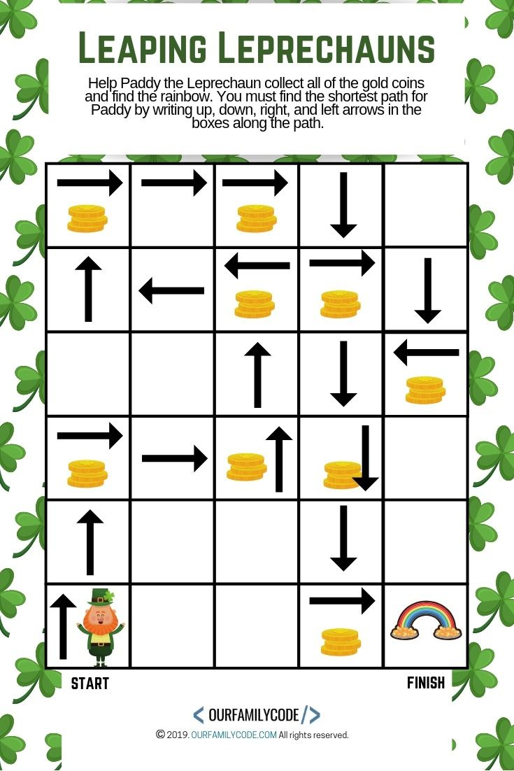 How To Catch A Leprechaun Sequence Coding Activity Our Family Code Unplugged Coding Activities Coding Activities [ 1102 x 735 Pixel ]