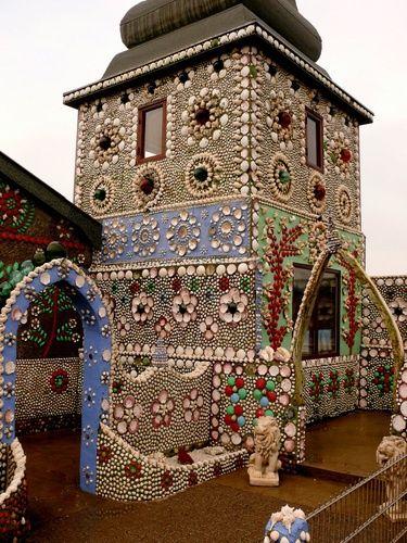 Mosaic tile house, Barcelona, Spain.
