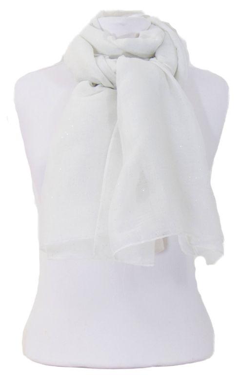 Foulard blanc fines paillettes. Découvrez sur mesecharpes.com + de 150  foulards chic pour 72a32d33c7e