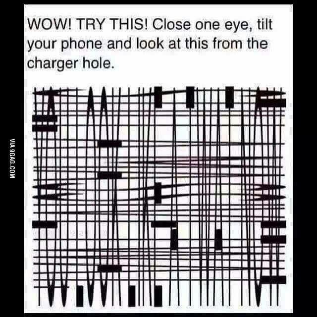 A cool magic trick | Meh | Optical illusions, Cool ...