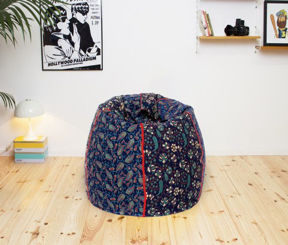 Handmade Cotton Multi Color Floral Bohemian Bean Bag Chair Home Decor Round Decorative Hippie Gypsy Ottoman Hippy Pouf Y877
