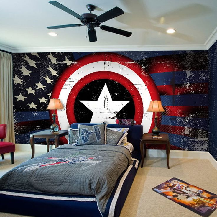 captain america bedroom google search master suite pinterest search heroes and captain. Black Bedroom Furniture Sets. Home Design Ideas