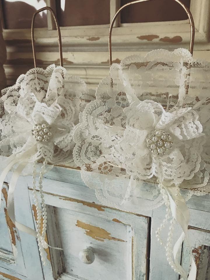 Rustic Beauty! Flower girl baskets