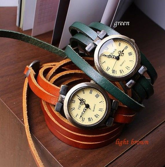 Vintage Style 5 circles dial Leather Retro Watch|Bracelet Watches - New Style Watches- ByGoods.com