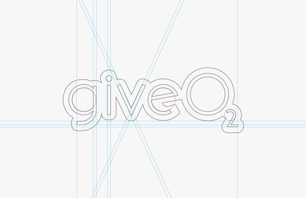 GiveO2 Logo by Christel Kemp, via Behance