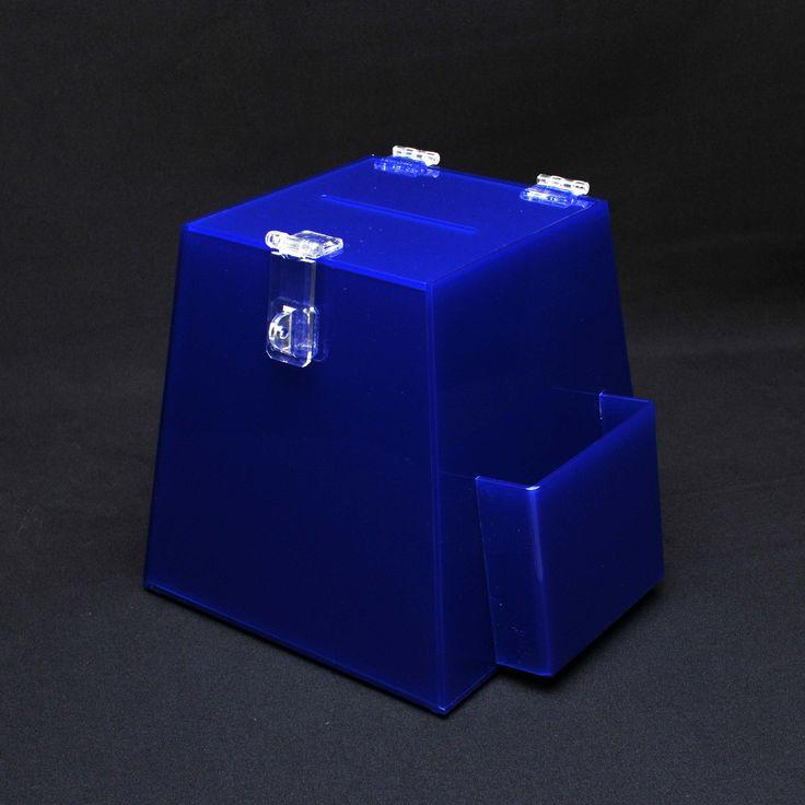 Urna de acrílico azul