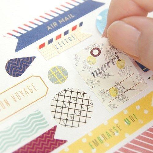 Diary Sticker DIY Calendar Book Sticker Scrapbook Decoration Planner 8sheets