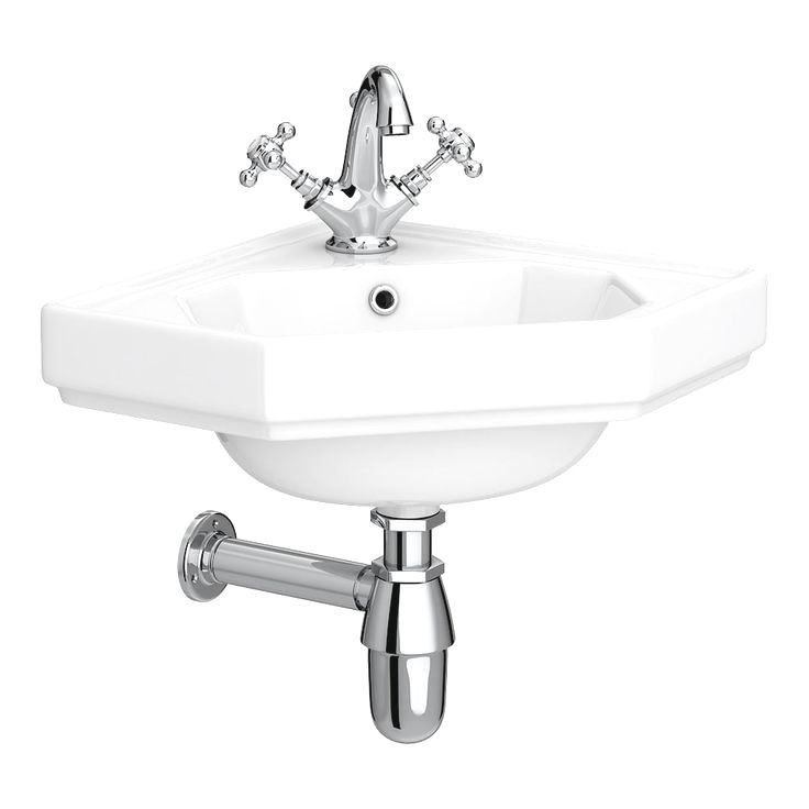 Downton Abbey Corner Cloakroom Basin 1 Tap Hole A Beautiful Wall Hung Corn Cloakroom Basin Septic System Plumbing Fixtures