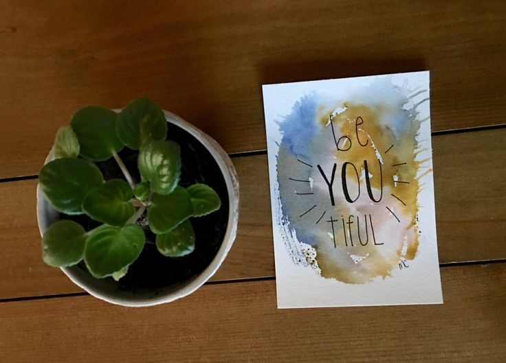 A personal favorite from my Etsy shop https://www.etsy.com/ca/listing/476043227/watercolor-beautiful-art-be-you-original