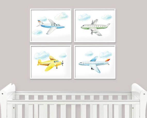 Planes Prints Plane Print Nursery Nursery Plane Airplane Nursery Prints Nursery Decor