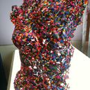 Melted Plastic Beads - Coloured Torso