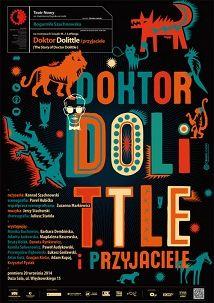 Doktor Dolittle, plakat teatralny, Sławomir Kosmynka